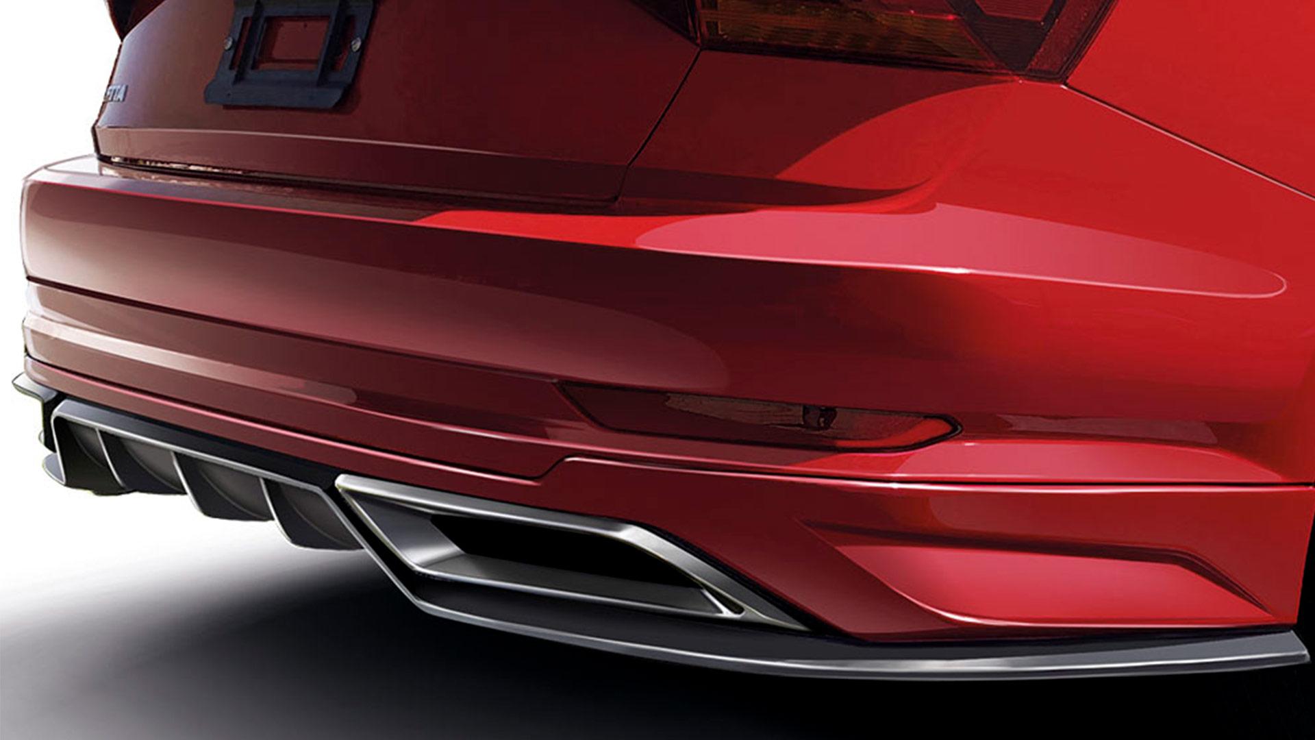 Spoiler trasero con difusor y puntas de escape deportivas para Volkswagen Jetta A7.