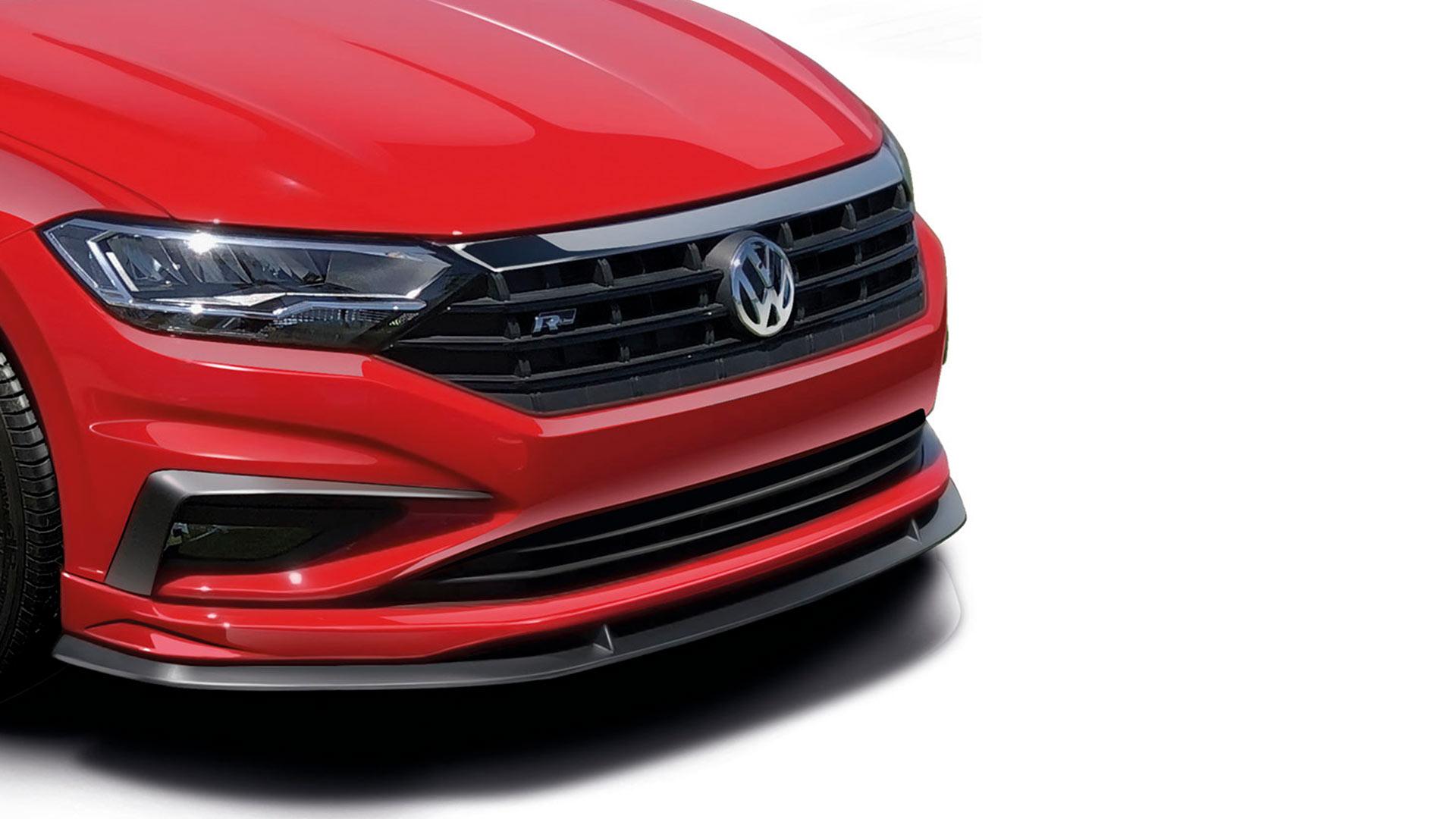 Spoiler delantero, accesorio nuevo y original para Volkswagen Jetta A7 seminuevo.