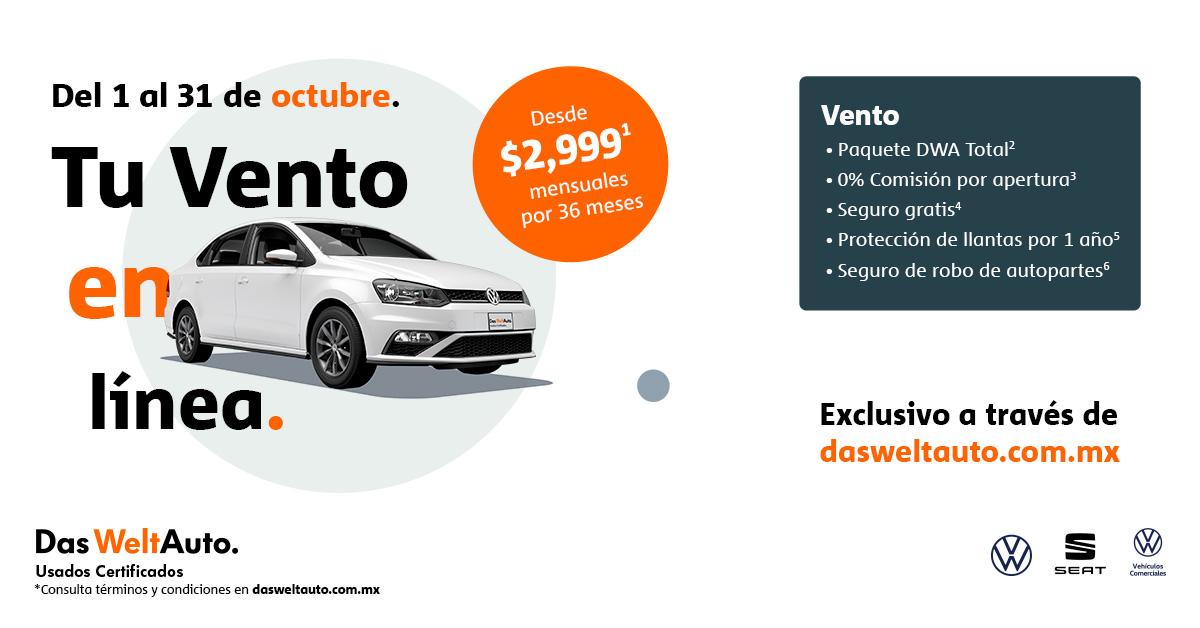 Oferta especial VW Vento seminuevo